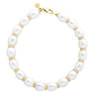Honora Freshwater Pearl Ringed Spacer Bracelet in 10K Gold|https://ak1.ostkcdn.com/images/products/is/images/direct/d27d5a87b754cd20485b5b403bf1ead57a2186c7/Honora-Freshwater-Pearl-Ringed-Spacer-Bracelet-in-10K-Gold.jpg?impolicy=medium