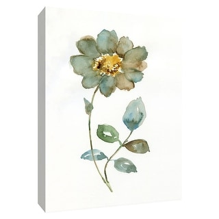 """PTM Images 9-148723  PTM Canvas Collection 10"""" x 8"""" - """"Simple Petals I"""" Giclee Flowers Art Print on Canvas"""