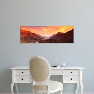Easy Art Prints Panoramic Images's 'Waterton Lakes National Park, Alberta, Canada' Premium Canvas Art