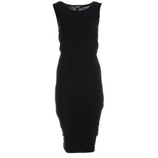 DKNY Womens Tank Dress Matte Jersey Midi - L