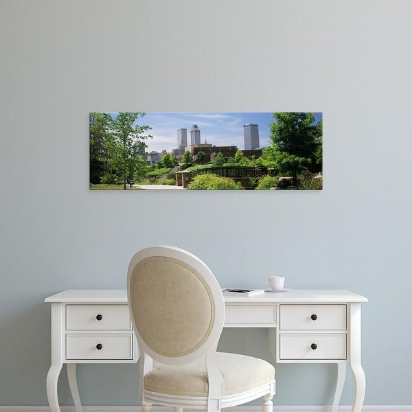 Easy Art Prints Panoramic Images's 'Buildings in a city, Tulsa, Oklahoma, USA' Premium Canvas Art