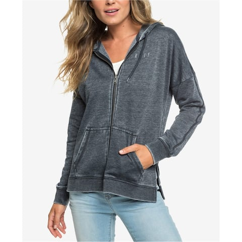 Roxy Womens Rustling Leaves Graphic Hoodie Sweatshirt, Grey, X-Small