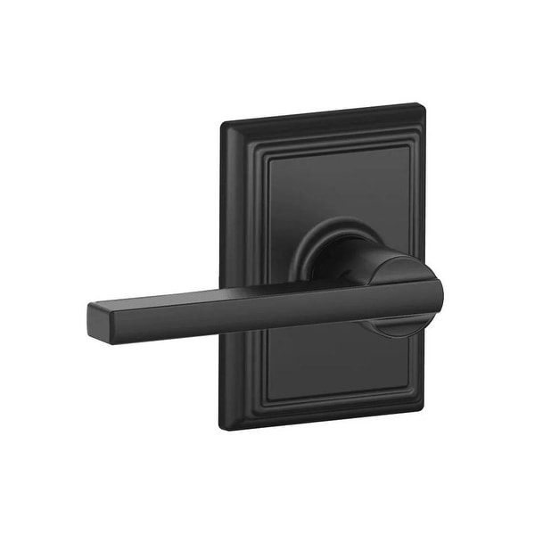 Schlage F10-LAT-ADD Latitude Reversible Passage Door Lever Set with Decorative Addison Trim