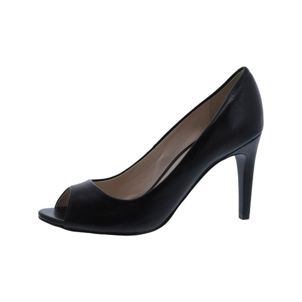 Cole Haan Womens Hellen Open-Toe Heels Stiletto Dress Black 6 Medium (B,M) - 6 medium (b,m)