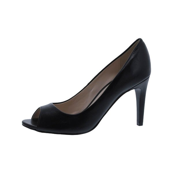 Cole Haan Womens Hellen Open-Toe Heels Stiletto Dress Black 7 Medium (B,M) - 7 medium (b,m)