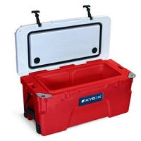 Kysek The Ultimate Ice Chest with Wheels 35 Liter White/Red Cooler