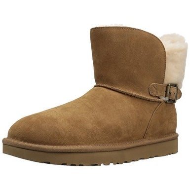 UGG Australia Womens Karel Leather Closed Toe Mid-Calf Fashion Boots