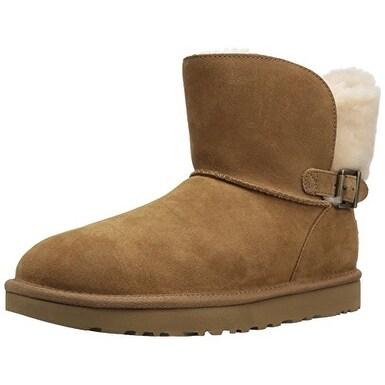 UGG Australia Womens Karel Leather Closed Toe Mid-Calf Fashion Boots - 12
