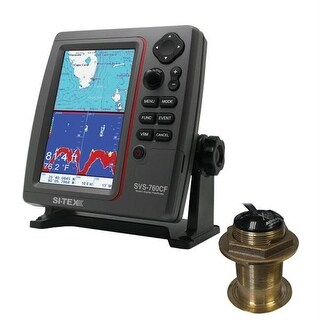 SVS-760CF Dual Frequency Chartplotter-Sounder 600W Kit with Bronze