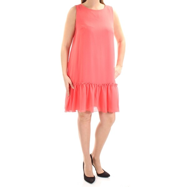 eff306c00 Shop TOMMY HILFIGER Womens Coral Sleeveless Jewel Neck Above The Knee Drop  Waist Dress Size: 12 - Free Shipping On Orders Over $45 - Overstock -  21273846