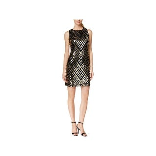 Jessica Howard Womens Party Dress Lattice-Print Sequined