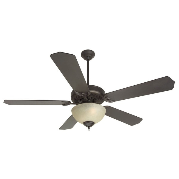 """Craftmade K10629 CD Unipack 202 52"""" 5 Blade Indoor Ceiling Fan - Blades and Light Kit Included - Oiled Bronze"""