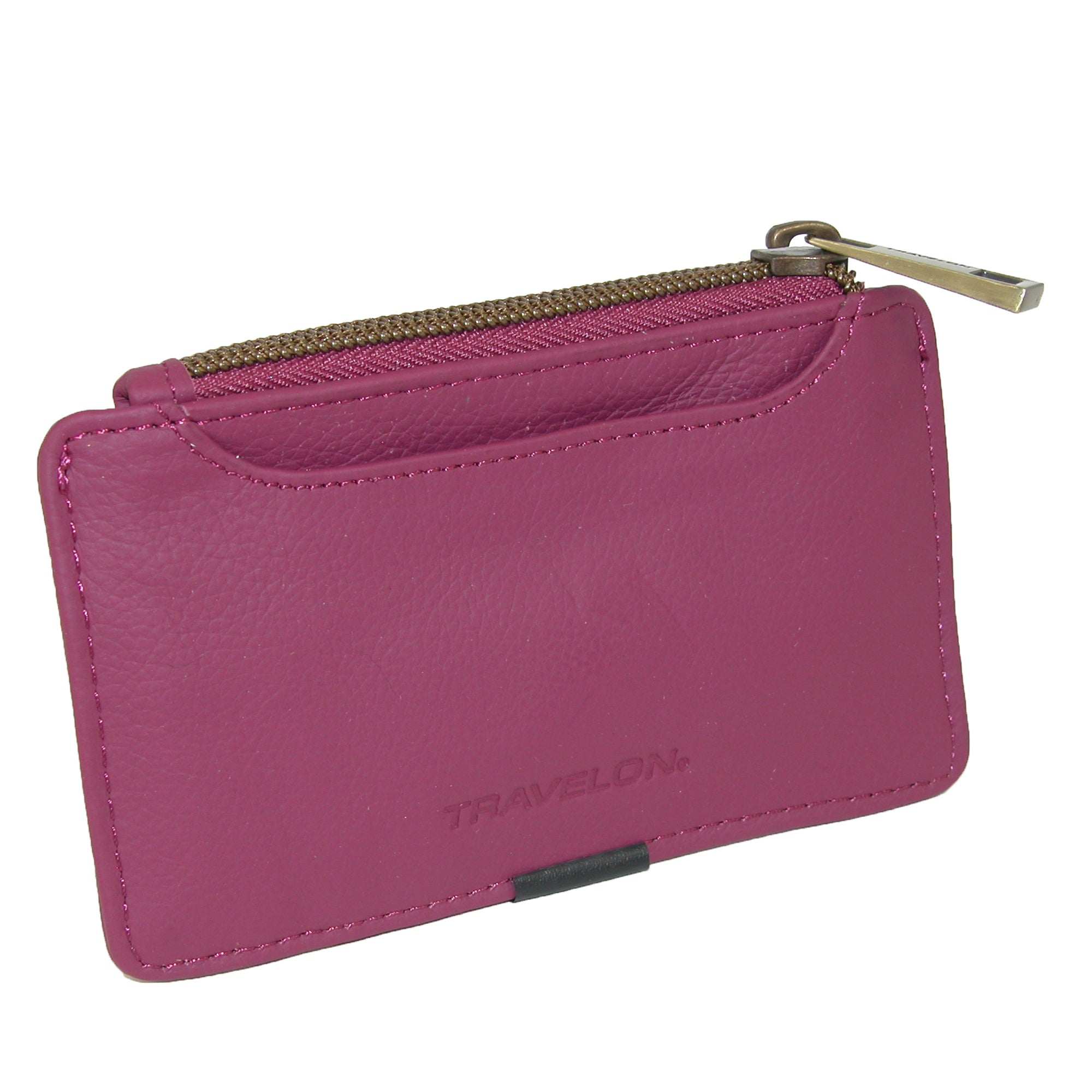 d1ac44793926 Travelon Women's Leather RFID Blocking ID and Card Case Wallet