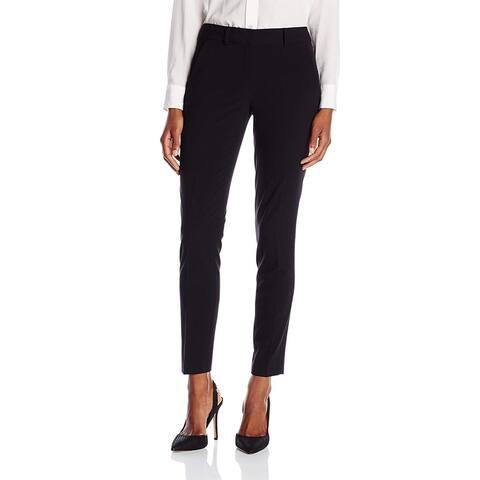 T Tahari Womens Marlena Dress Pants Black Size 14 Slim Leg Trousers