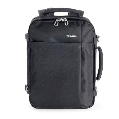 """Tucano Tugo Medium Water Resistant Travel Notebook Backpack with Security Pockets for Laptops up to 15.6"""""""