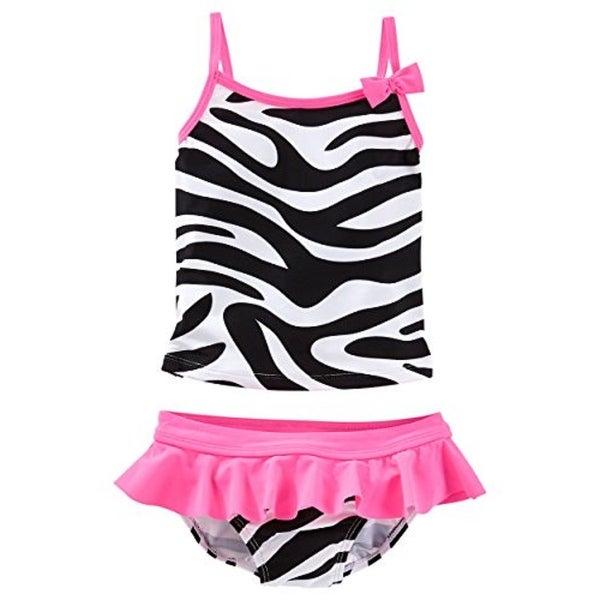7bf781cf04 Shop OshKosh B'gosh Baby Girls' Zebra Print Tankini, 12 Months - Free  Shipping On Orders Over $45 - Overstock.com - 26960073