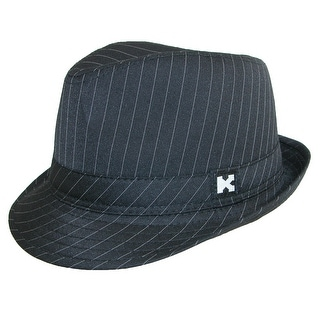Kenny K Boys' Black Pinstripe Dressy Fedora Hat - One size