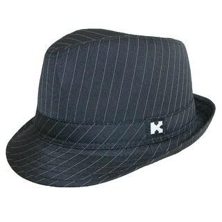 Kenny K Boys' Black Pinstripe Dressy Fedora Hat