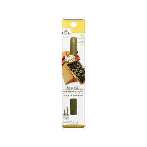 Zig Writer Pen Dual Tip Gold Carded