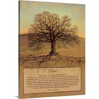 Bonnie Mohr Premium Thick-Wrap Canvas entitled Today - Multi-color