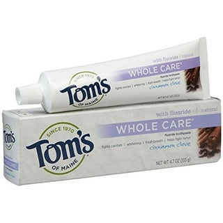 Toms Of Maine 0 Cinnamon Clove Whole Care Toothpaste, 4.7 oz -