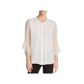 Elie Tahari Womens Mavin Dress Top Silk Work Wear