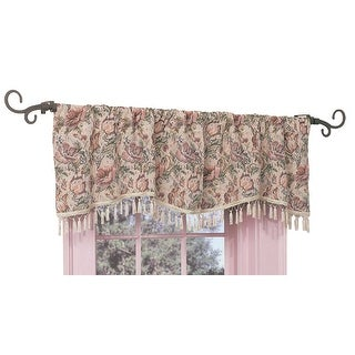 Valance Floral Cotton Poly Pocket Rod 56L x 18H Renovator's Supply