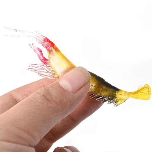 Shop Fish Angler Tool Silicone Artificial Fishing Lure Prawn