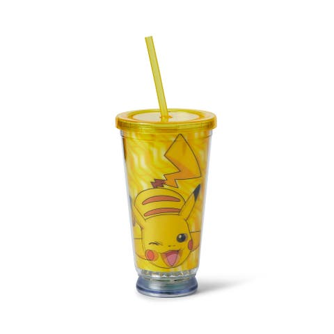 Pokemon Pikachu Carnival Cup - 18oz BPA-free Tumbler Cup with LED Lights - Multi