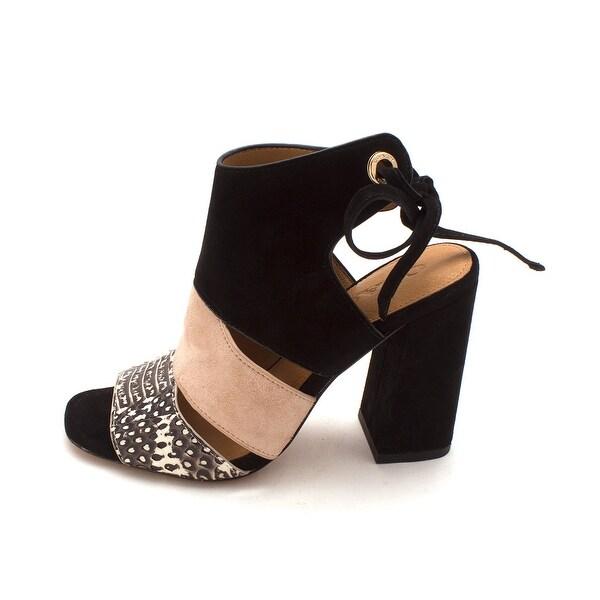 Coach Womens Minetta Suede Open Toe Casual Slingback Sandals