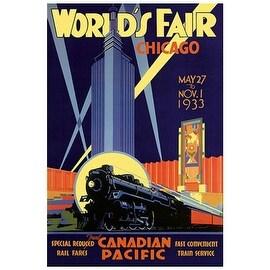 ''World's Fair Chicago, 1933'' by Norman Fraser Transportation Art Print (18.25 x 14.25 in.)