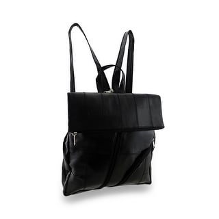 Soft Black Sheepskin Leather Backpack Sling Bag