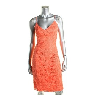 Guess Womens Jillian Slip Dress Lace Sheath