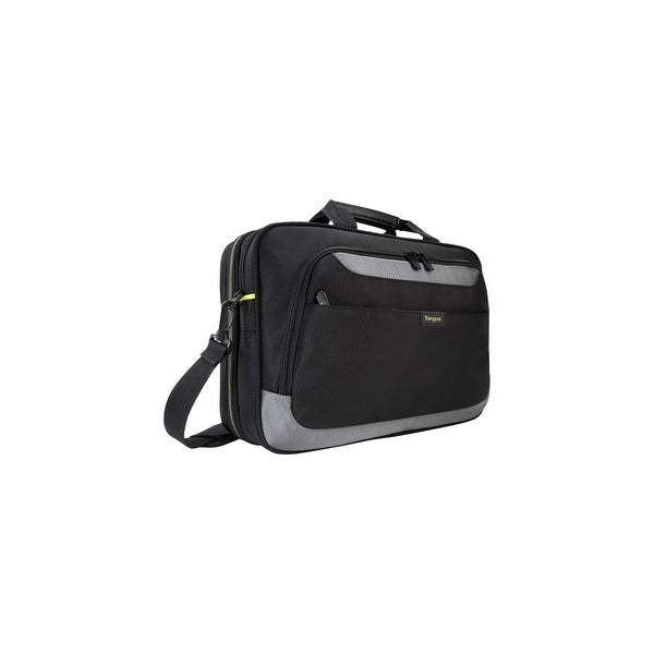 "Targus TCG465 Targus CityGear II TCG465 Carrying Case (Messenger) for 15.6"" Notebook - Black, Gray - Weather Resistant,"