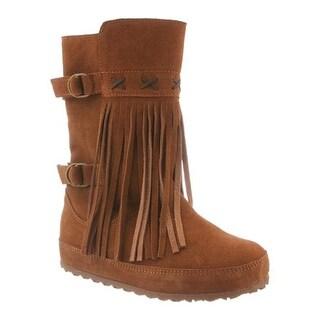 Bearpaw Women's Krystal Pull On Boot Hickory II Suede