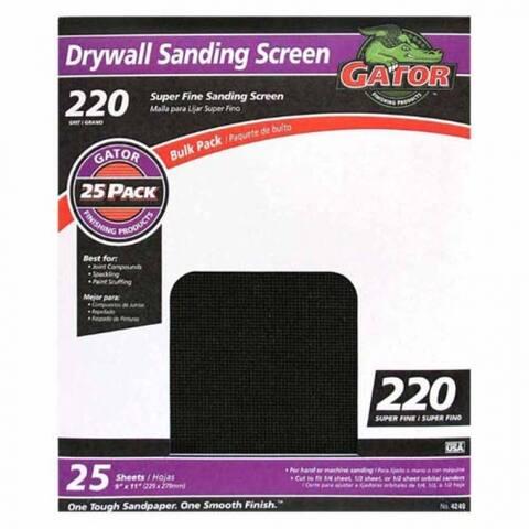 "Gator 4249 Drywall Sanding Screen, 220 Grit, 9"" x 11"""