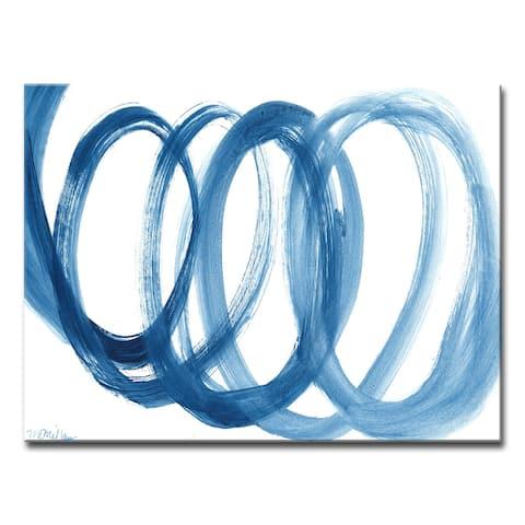 Carson Carrington 'Loopy Blue' by Dana McMillan Art Canvas