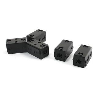5 Pcs 7mm Dia USB Data Cable Rectangle EMI Suppressor Ferrite Core Filter Black