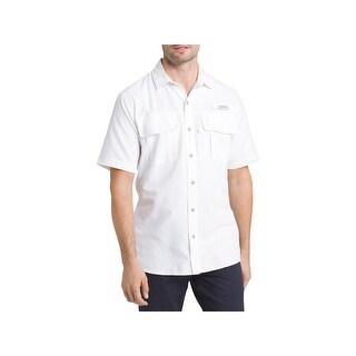 G.H. Bass & Co. Mens Explorer Button-Down Shirt Classic Fit Lightweight