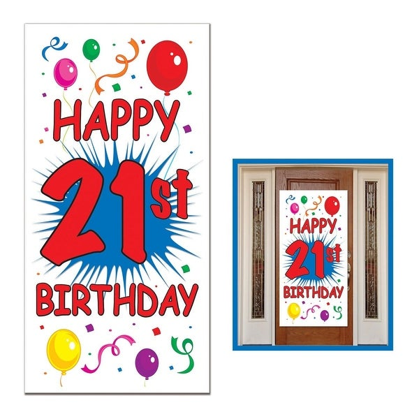 Shop Club Pack Of 12 Birthday Themed 21st Door Cover Party Decorations 5