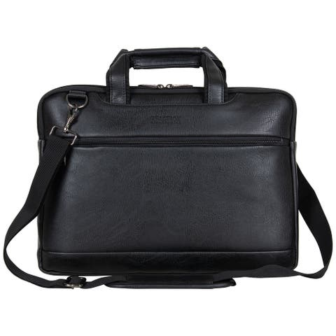 Kenneth Cole Reaction Vegan Leather Slim 16-inch Laptop & Tablet Business Case Bag