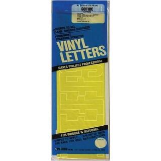 "Yellow - Permanent Adhesive Vinyl Letters 4"" 95/Pkg"