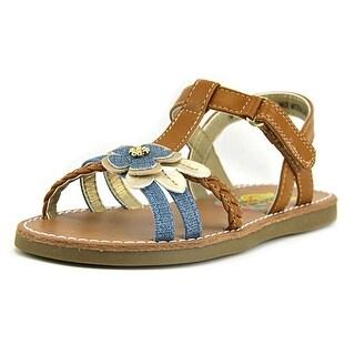 Rachel Shoes Krissy Open-Toe Leather Slingback Sandal
