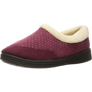 Foamtreads Womens Keira Faux Suede Metallic Slip-On Slippers - 6 medium (b,m)