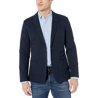 Goodthreads Men's Slim-Fit Stretch Twill Blazer, Navy, X-Large