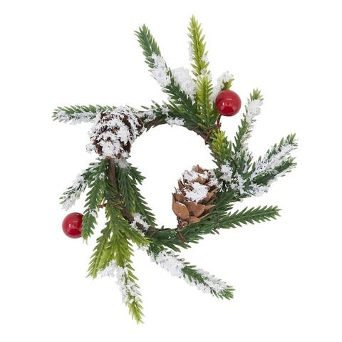 Holiday Napkin Rings With Red Berry Design (Set of 4)