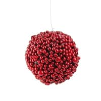 "6"" Artificial Festive Red Berries Christmas Ball Ornament"