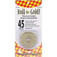 Roll The Gold! Titanium Coated Rotary Cutting Blade Refills-45Mm 2/Pkg