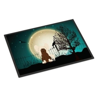 Carolines Treasures BB2303MAT Halloween Scary Chinese Crested Cream Indoor or Outdoor Mat 18 x 0.25 x 27 in.