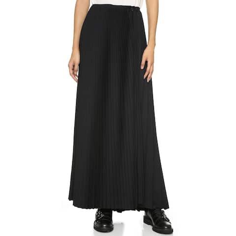 Public School Black Orchard Pleated Maxi Skirt Size 6